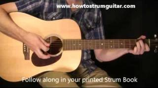 Learn To Play Guitar Lessons - Slow Country Guitar Strum Part 1