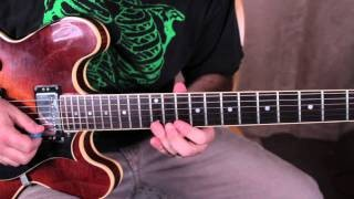 Guitar Scales Lesson - The 5 Positions of the Minor Pentatonic Scale - blues scale
