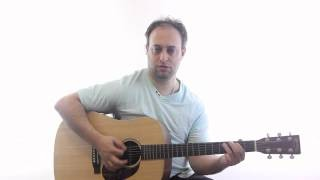 Acoustic Blues Guitar Lesson - Learn to Play a Cool Acoustic Blues Shuffle Riff on Guitar