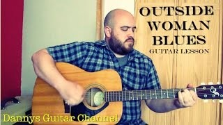 Eric Clapton Acoustic - Outside Women Blues - Blues Guitar Lesson