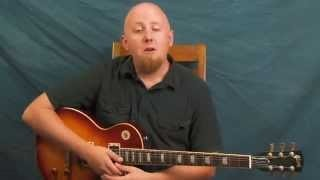 Rock n Roll rhythm & slapback delay guitar lesson Elvis Scotty Moore inspired Mystery Train style