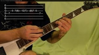 Guitar Lesson - HEAVY METAL FRETBOARD TAPPING - Easy!