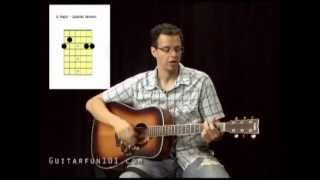 Guitar Lesson - How to play Johnny Cash - Ring of Fire - Guitar Fun 101