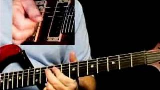 Blues Rock Guitar Lessons - Bugs Henderson - Slow Blues Rhythm 2