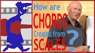 How are chords created from scales?