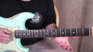 Jimi Hendrix Inspired Blues Rock Guitar Lesson - Blues Vamp Guitar Lesson with Solos