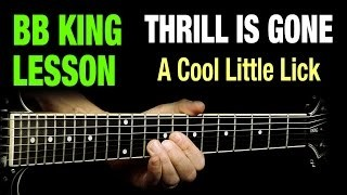 BB King Thrill Is Gone Lick