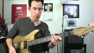 How To Write Rock Guitar Chord Progressions - Minor Pentatonic Scale - Easy Electric Lesson