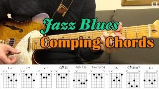Jazz Blues Comping Chords (With Chord Boxes) - Guitar Lesson - Camilo James