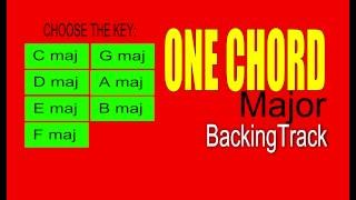 Guitar Backing Track ONE CHORD Cmaj 110 Bpm Pop Rock