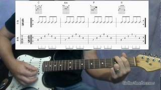 "Classic 50's Rock Guitar - The ""Oldies"" Chord Progression [8.19 Guitar Teacher]"