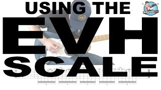 Using the Eddie Van Halen Scale - Guitar Lesson with Licks and Tablature