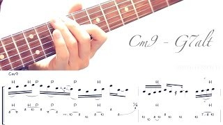 Jazz Fusion Legato Licks - Cm9 - G7alt Example #2