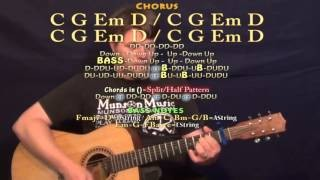 American Country Love Song (Jake Owen) Guitar Lesson Chord Chart - Capo 1st