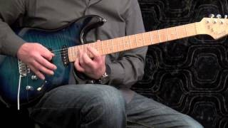 Advanced Rock Guitar Slide Arpeggios #3 - slow and fast tempo