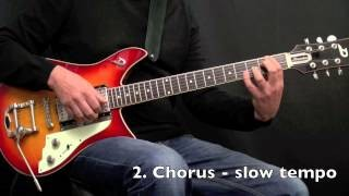 Walk a bit - Jazz Blues Guitar Comping - Achim Kohl - Fast & Slow