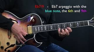 Bb Jazz Blues - Easy Jazz Guitar Lesson by Achim Kohl - Part 2