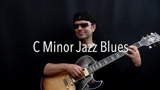 C Minor Jazz Blues - Achim Kohl - Jazz Guitar Improvisation with tabs