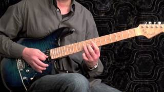 Speed Arpeggio Solo #2 for Rock Guitar - slow and fast tempo
