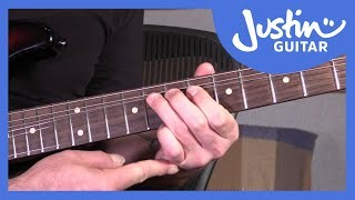 String Bending In Blues Lead Guitar - Mechanics & Technique - Guitar Lesson Tutorial - JustinGuitar