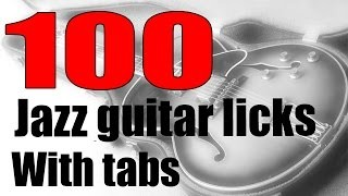 100 jazz guitar licks with tabs