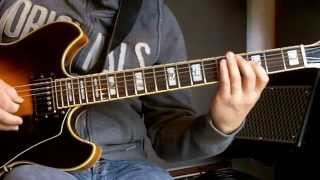 Jazz guitar lesson | Lick in Eb | I-VI-II-V7