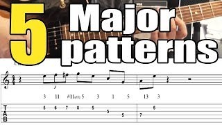 5 Easy Major Jazz Guitar Licks - Lesson with Tabs