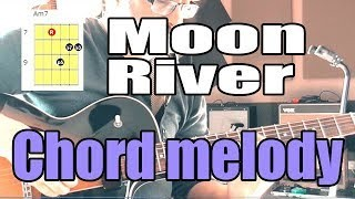 Moon River - Jazz Guitar Chord Melody - Lesson With Shapes