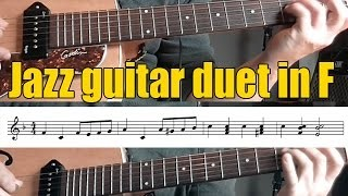 Guitar duet in F | A modern method for guitar | Berklee | Lesson with score