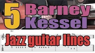 5 Barney Kessel jazz guitar licks | Lesson with tabs