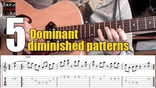 The half whole diminished scale & arpeggios | 5 jazz guitar licks