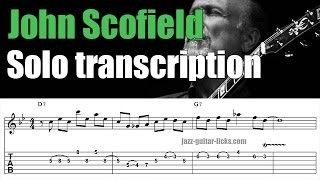 "John scofield jazz guitar lesson | Altered lines on ""Wee"" Bridge 