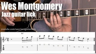 Wes Montgomery jazz guitar lesson | Lick # 6 | Major triad