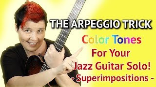 Superimposition Arpeggio Stacking on Minor Chords - Guitar Lesson