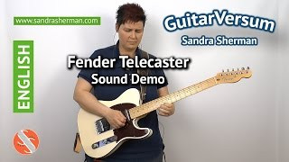 Fender Telecaster Deluxe Sound Demo - Fender American Telecaster Review