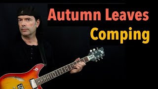 Autumn Leaves (Gm) - Comping - Jazz Guitar Lesson by Achim Kohl