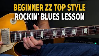Beginner / Intermediate ZZ Top Style 12 Bar Blues Solo Lesson