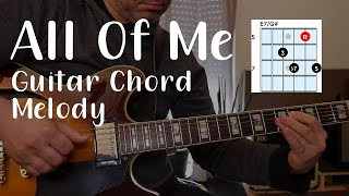 All of Me - Jazz Guitar Chord Melody Arrangement - Lesson  With Shapes