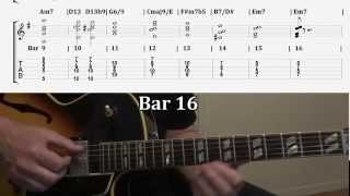 "Pt.2 Jazz Guitar Comping Chords Specifically For ""Autumn Leaves"" Changes In Em"