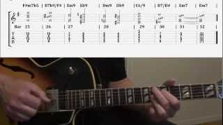 Pt.4 Jazz Guitar Comping Chords Specifically For Autumn Leaves Changes In Em