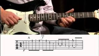 Major-Minor Blues Licks Guitar Lesson @ GuitarInstructor.com (preview)