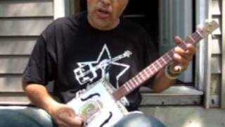 Country Blues Gospel Guitar Lesson # 1 Song Demonstration Cigar Box Guitar