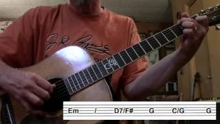 Guitar Fingerpicking Lesson: Girl From The North Country by Bob Dylan