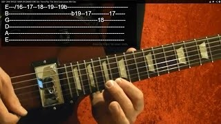 Guitar Lesson - Rock and Blues Soloing Basics - Very Easy!!