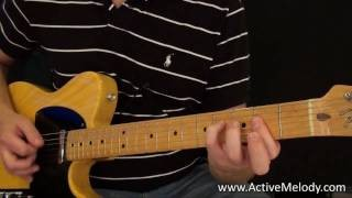 Rock / Blues Rhythm Guitar Lesson (Key of A)