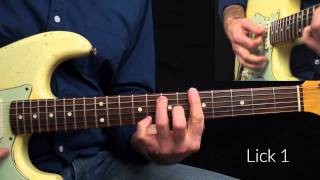 Snaky Slow Blues Lick Lesson in A WITH TAB