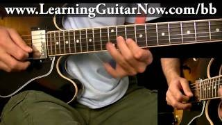 BB King Guitar Lesson:  Swing Blues Lick