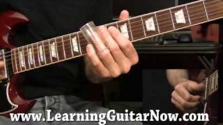 Slide Guitar lessons DVD Standard Tuning preview