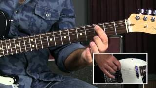 Blues Rhythm Guitar Lesson -Blues Mambo/Rumba Feel like Crosscut Saw