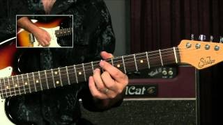 Blues Guitar Lesson: Quick Double Stop I To IV Lick